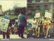 """Olympic skier Suzy """"Chapstick"""" Chaffee, who led the 1977 Title IX March in DC at the request of the PE Teachers of America"""