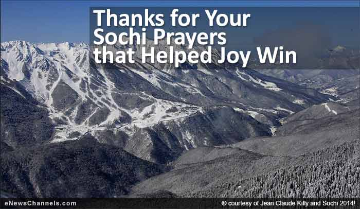 Thanks for Your Sochi Prayers