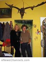 Suzy Chaffee and Marina Guinness