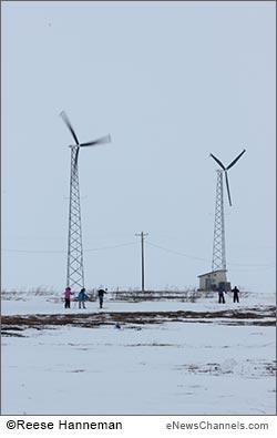 wind turbine in Selawik - credit Reese Hanneman