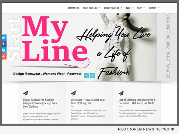 Startmyline Com Is A New Total Diy Business And Design Solution For Fashion Designers Enewschannels News