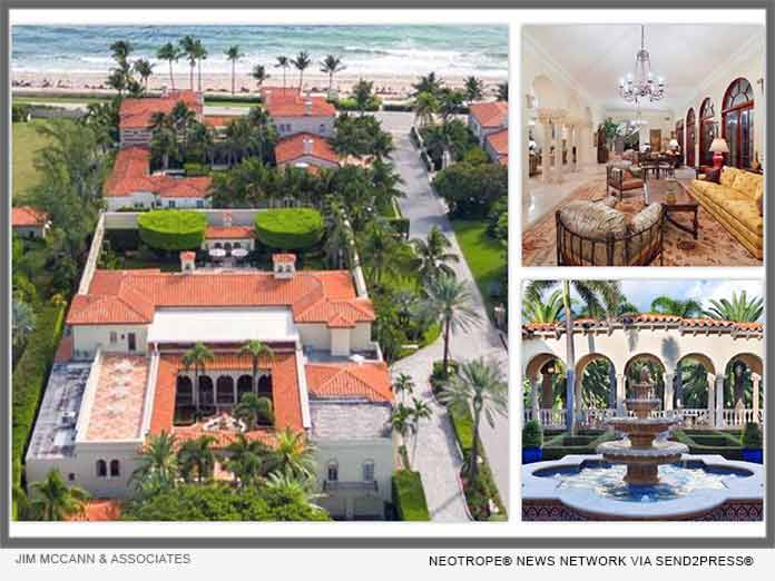 Luxury Homes: Jim McCann Announces Palm Beach Florida Via Bellaria Double  Lot Mansion | ENewsChannels News
