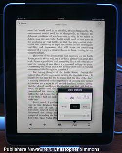 Kindle for iPad adjustments