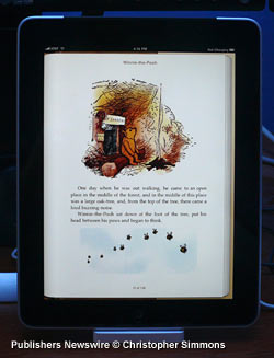 iBooks reader on iPad 3G