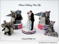 political wedding cake toppers
