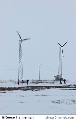 wind turbine in Selawik - credit Reese Hanneman